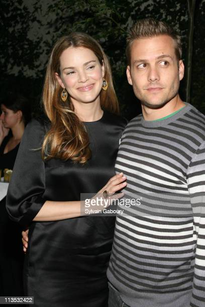 Jacinda Barrett and Gabriel Macht during The Cinema Society and DKNY Present a Screening of 'The Last Kiss' After Party at The Yard at the Soho Grand...