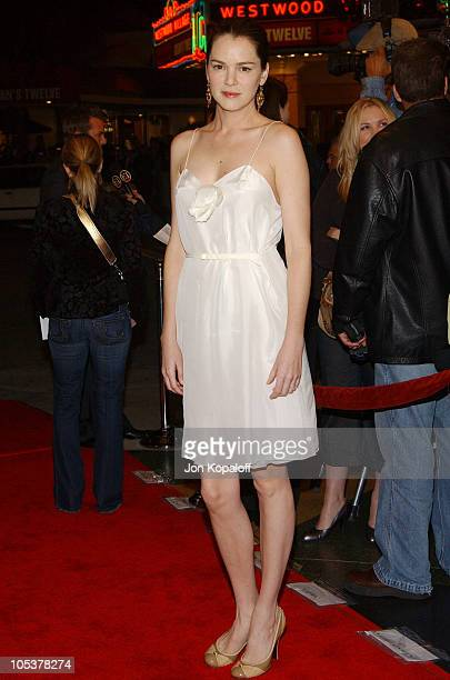 Jacinda Barrett during 'A Love Song For Bobby Long' Los Angeles Premiere Arrivals at Mann Bruin in Westwood California United States