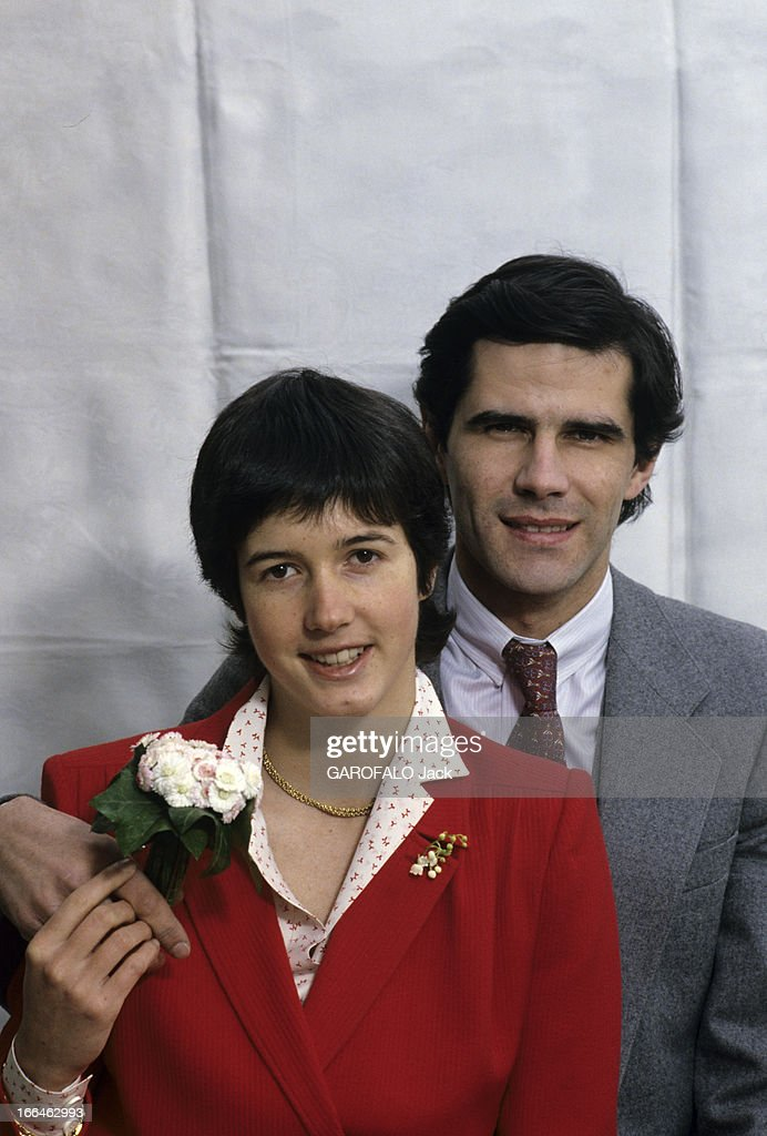 Jacinta giscard d 39 estaing and philippe guibout pose in - Pose photo mariage ...