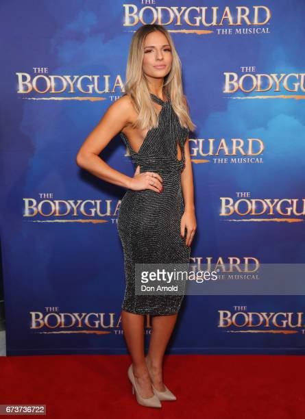 Jacinta Gulisano arrives ahead of opening night of The Bodyguard The Musical at Lyric Theatre Star City on April 27 2017 in Sydney Australia