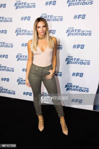 Jacinta Gulisano arrives ahead of The Fate of the Furious Sydney Premiere on April 11 2017 in Sydney Australia