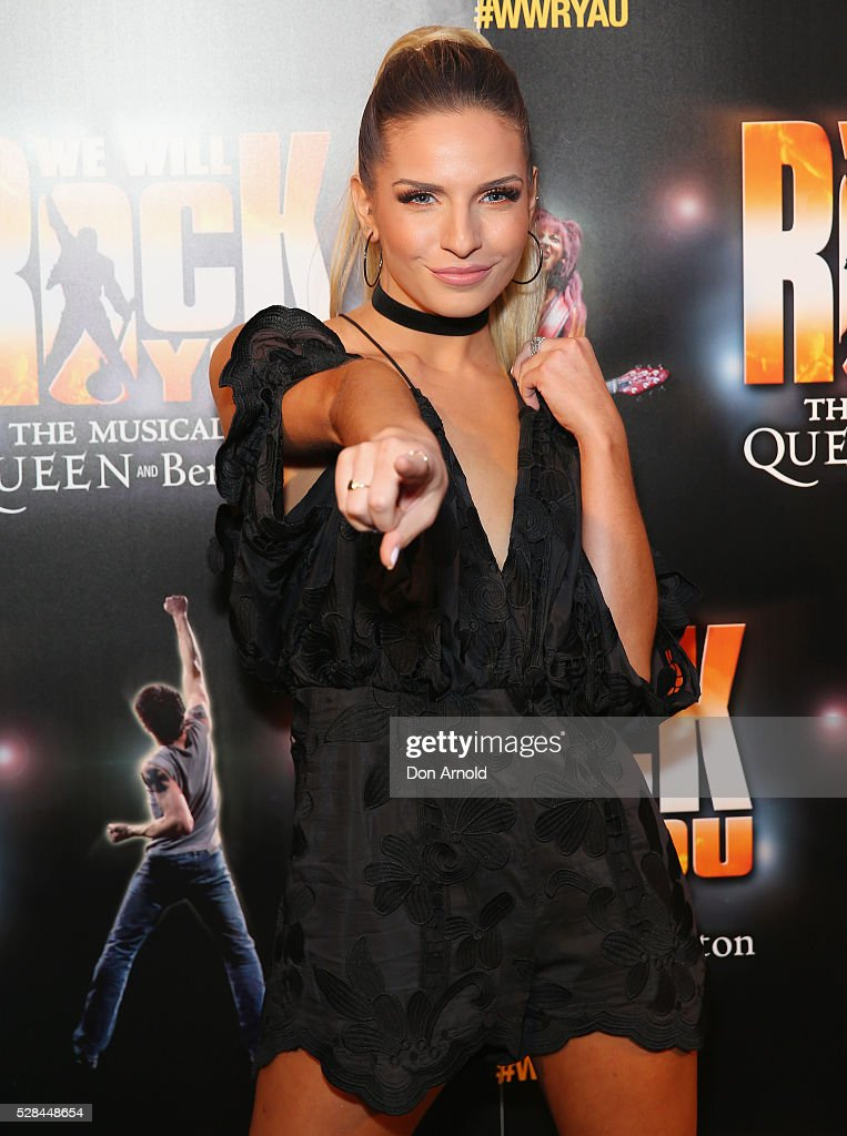 Jacinta Gulisano arrives ahead of We Will Rock You Opening Night at Lyric Theatre, Star City on May 5, 2016 in Sydney, Australia.