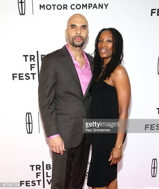 Jacinto Riddick and guest attend the 2017 Tribeca Film Festival 'Aardvark' at SVA Theatre on April 21 2017 in New York City