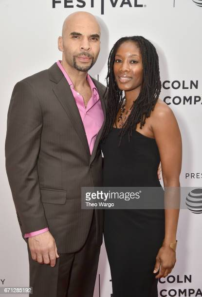 Jacinto Riddick and guest attend the 'Aardvark' Premiere during 2017 Tribeca Film Festival at SVA Theatre on April 21 2017 in New York City