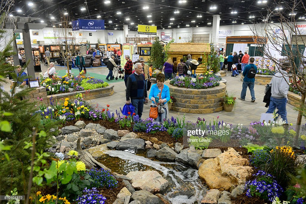 Jack and anne rafferty walkthrough a garden exhibition at the pictures getty images Colorado home and garden show