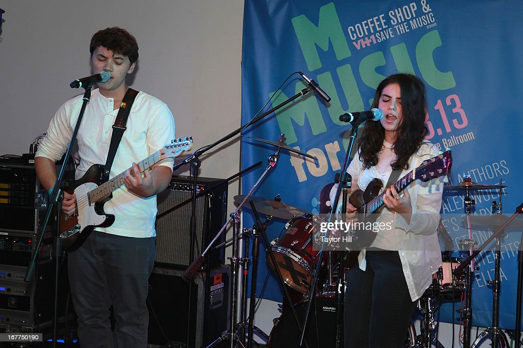 Jack and Eliza perform during the Music for Music showcase benefiting VH1 Save the Music at The Union Square Ballroom on April 28, 2013 in New York City.