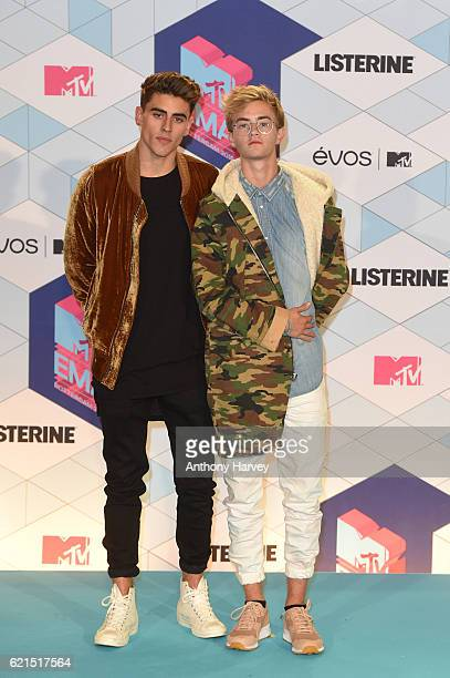 Jack and Jack pose in the winner's room during the MTV Europe Music Awards 2016 on November 6 2016 in Rotterdam Netherlands