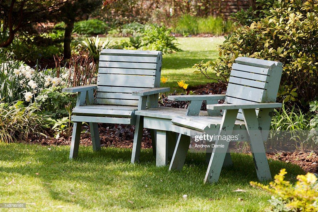 Jack And Jill Garden Seat Stock Photo
