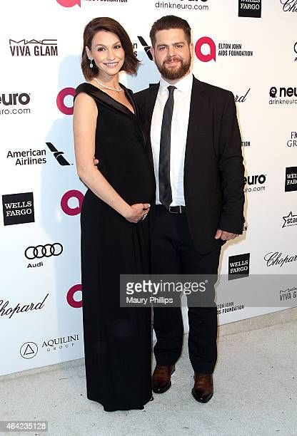 Jack and Lisa Osbourne arrive at the 23rd Annual Elton John AIDS Foundation Academy Awards Viewing Party at The City of West Hollywood Park on...