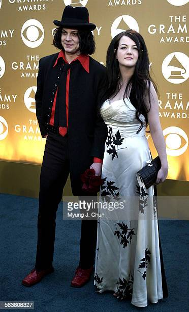 AWARDS –– Jack and Meg White of the rock band 'The White Stripes' arrive at the 46th Annual Grammy Awards show at the Staples Center in Los Angeles...
