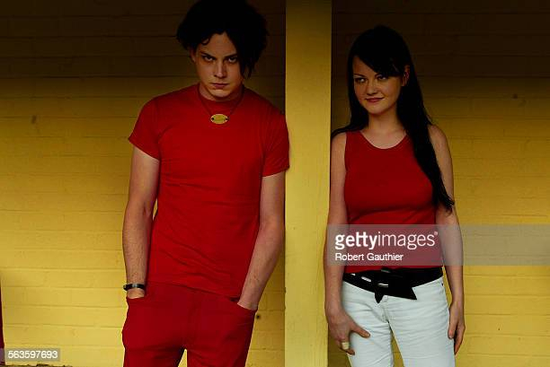 Jack and Meg White of the White Stripes at the Roosevelt Hotel in Hollywood Sunday June 2 2002
