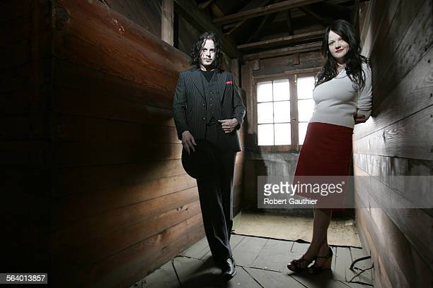 Jack and Meg White of the White Stripes in Detroit Michigan Tuesday April 26 2005