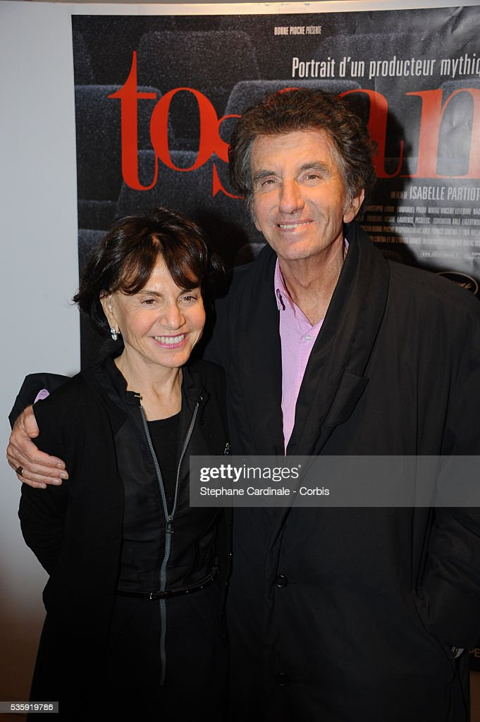Jack and Monique Lang attend the 'Toscan' documentary premiere at Cinema l'Arlequin in Paris.