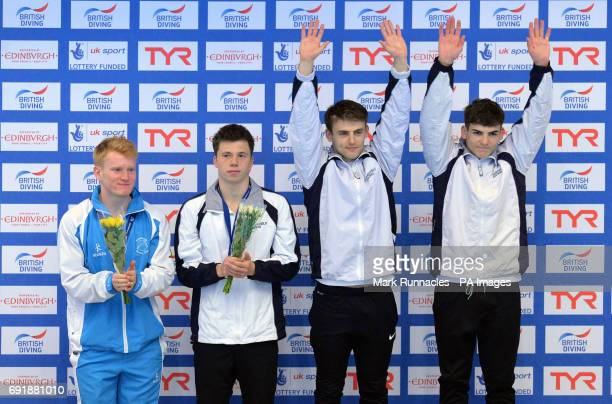 Jack and Ross Haslam take the gold medal over Freddie Woodward and James Heatley in the mens 3m Syncro during the British Diving Championships at the...