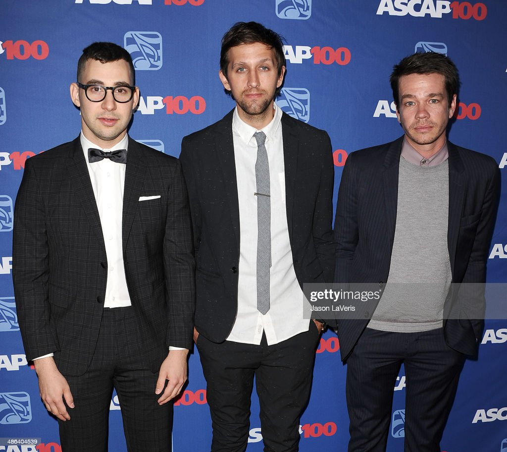 Jack Antonoff, Andrew Dost and Nate Ruess of the band Fun attends the 31st annual ASCAP Pop Music Awards at The Ray Dolby Ballroom at Hollywood & Highland Center on April 23, 2014 in Hollywood, California.