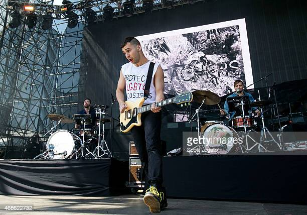 Jack Antonoff of Bleachers performs on April 4 2015 in Indianapolis Indiana