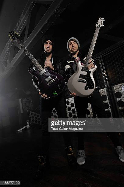 Jack Barakat and Alexander Gaskarth from All Time Low Bristol January 26 2010