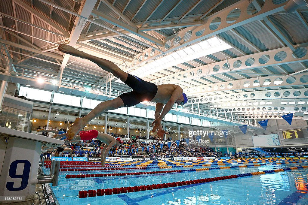 Jack Barker of Carlisle Aquatics competes in the Men's 50m Breaststroke heats on Day One of the 2013 British Gas International Meeting at John Charles Centre for Sport on March 7, 2013 in Leeds, England.