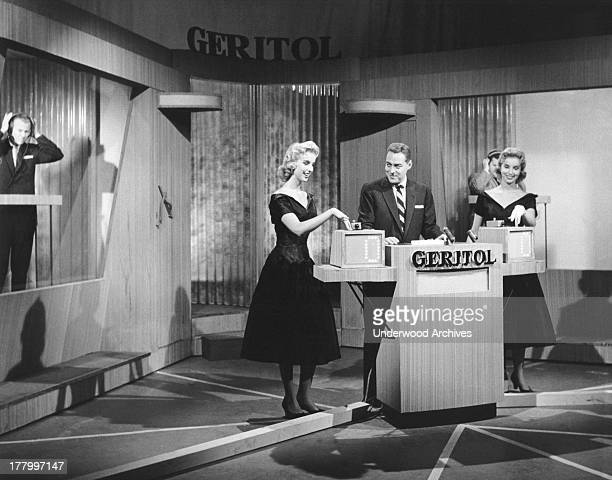 Jack Barry as host of the NBC 'Twenty One' TV game show sponsored by Geritol New York New York c 1957