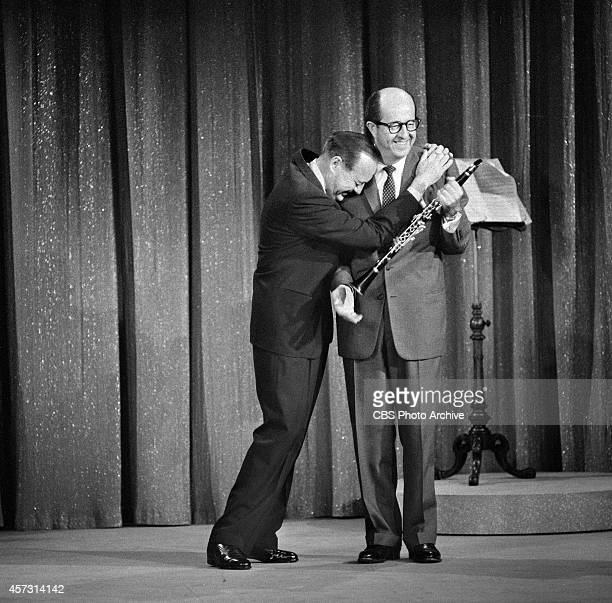 Jack Benny and Phil Silvers at rehearsal for THE JACK BENNY HOUR Image dated May 13 1959