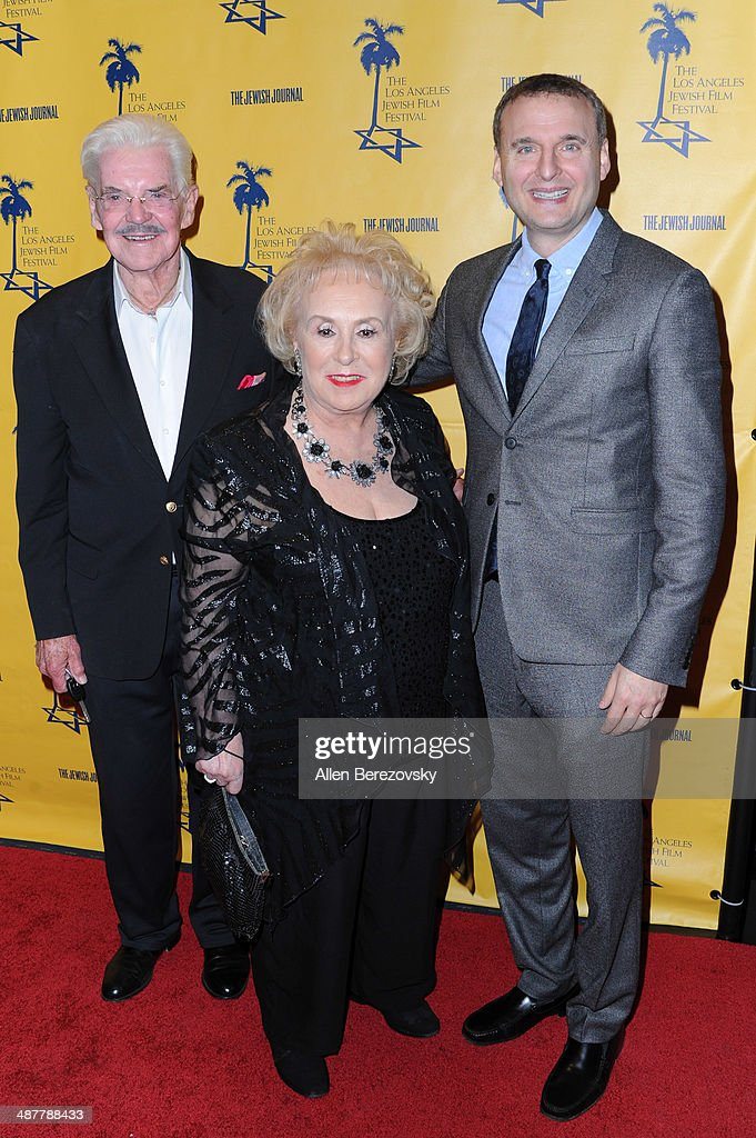 Jack Betts, actress <a gi-track='captionPersonalityLinkClicked' href=/galleries/search?phrase=Doris+Roberts&family=editorial&specificpeople=209247 ng-click='$event.stopPropagation()'>Doris Roberts</a> and writer <a gi-track='captionPersonalityLinkClicked' href=/galleries/search?phrase=Phil+Rosenthal+-+Producer&family=editorial&specificpeople=15068449 ng-click='$event.stopPropagation()'>Phil Rosenthal</a> arrive at the 9th Annual Los Angeles Jewish Film Festival Opening Night Gala honoring Carl Reiner with tributes at Saban Theatre on May 1, 2014 in Beverly Hills, California.