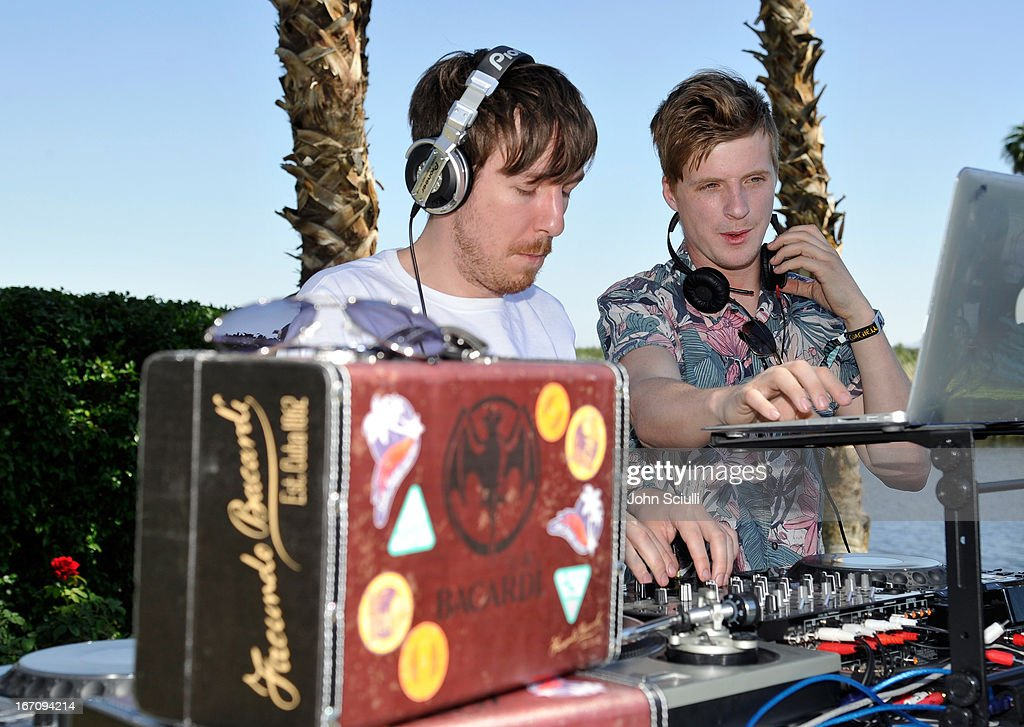Jack Bevan and Edwin Congreave attend the Soho House Pop Up with Bacardi during Coachella 2013 at Merv Griffin Estate on April 19, 2013 in La Quinta, California.