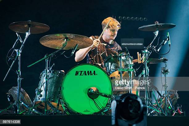 Jack Bevan from Foals performs at Rock en Seine on August 28 2016 in Paris France