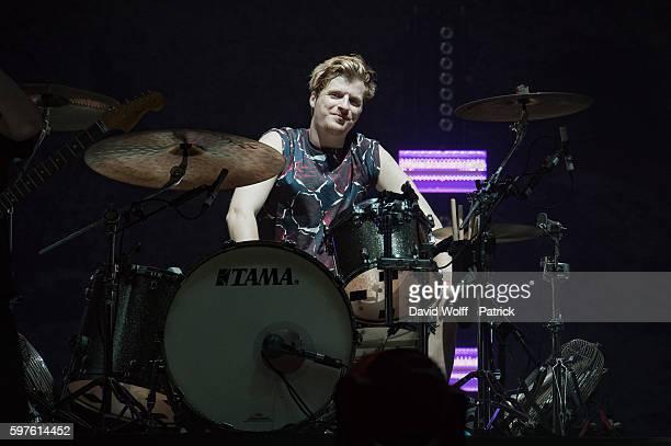 Jack Bevan from Foals performs at Rock en Seine on August 28 2016 in Paris France