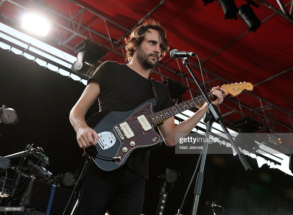 Jack Bevan of the band Foals performs during Big Day Out at Claremont Showgrounds on January 28, 2013 in Perth, Australia.