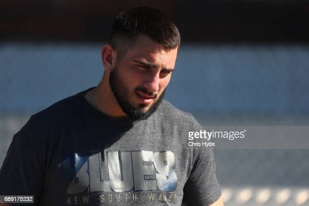 Jack Bird looks on during a New South Wales Blues Origin training session at Cudgen Leagues Club on May 28 2017 in Kingscliff Australia