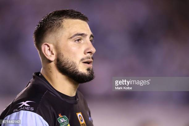 Jack Bird of the Sharks looks dejected after defeat during the round eight NRL match between the Cronulla Sharks and the Gold Coast Titans at...