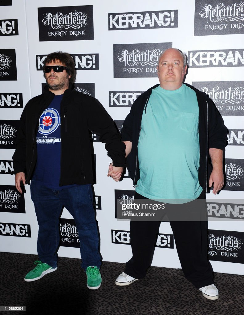 Jack Black and Kyle Gass of Tenacious D attend the Kerrang! Awards at The Brewery on June 7, 2012 in London, England.