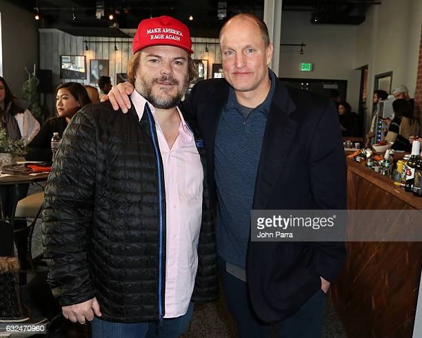 Jack Black and Woody Harrelson are seen at The Hollywood Reporter 2017 Sundance Studio At Sky Strada Day 3 2017 Park City on January 22 2017 in Park...