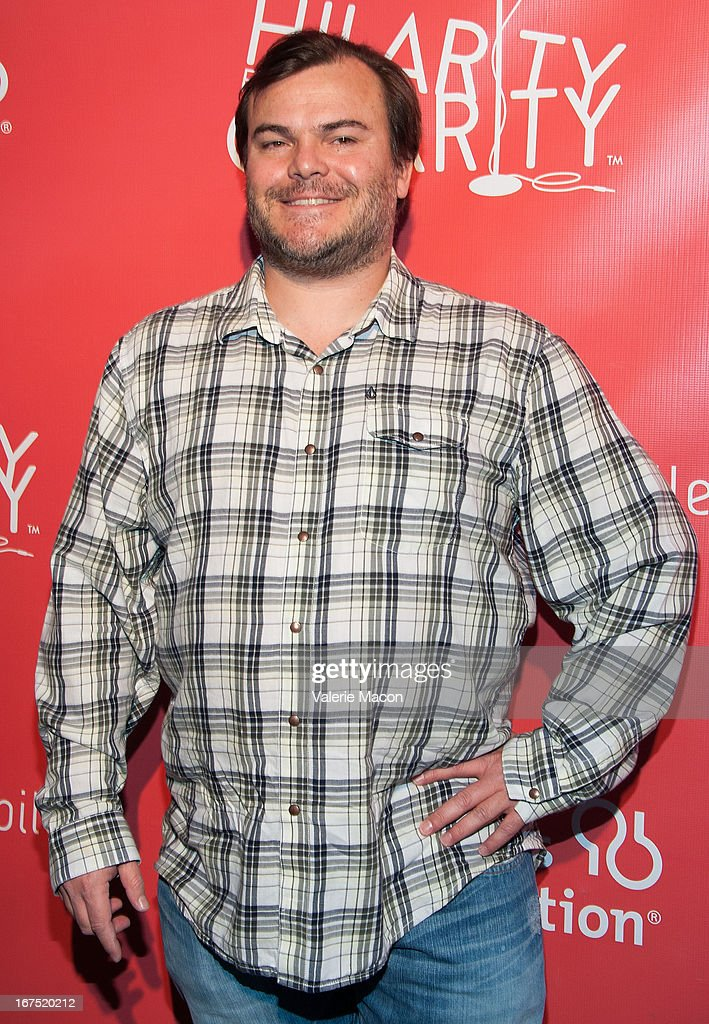 <a gi-track='captionPersonalityLinkClicked' href=/galleries/search?phrase=Jack+Black&family=editorial&specificpeople=171453 ng-click='$event.stopPropagation()'>Jack Black</a> arrives at the 2nd Annual Hilarity for Charity Event at Avalon on April 25, 2013 in Hollywood, California.