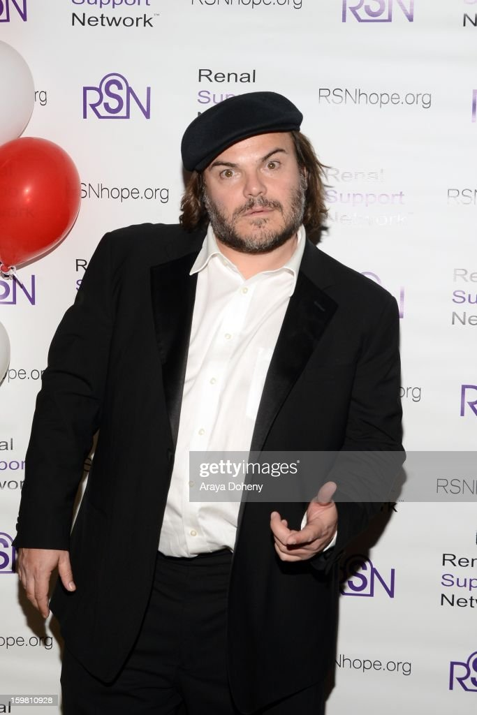 <a gi-track='captionPersonalityLinkClicked' href=/galleries/search?phrase=Jack+Black&family=editorial&specificpeople=171453 ng-click='$event.stopPropagation()'>Jack Black</a> arrives at the Renal Support Network hosts 14TH Annual Renal Teen Prom featuring special guest star, Jack ?Black event at Notre Dame High School on January 20, 2013 in Sherman Oaks, California.