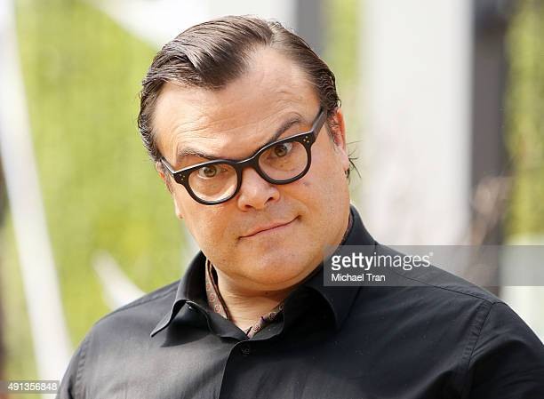 Jack Black arrives at the world premiere of 'Goosebumps' held at Regency Village Theatre on October 4 2015 in Westwood California