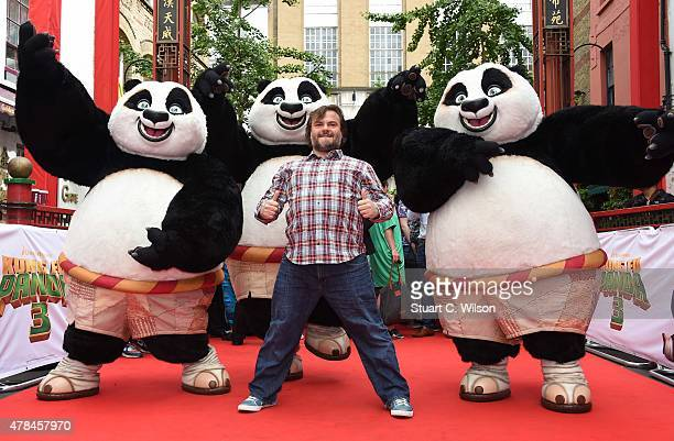 Jack Black attends a photocall for 'Kung Fu Panda 3' on June 25 2015 in London England