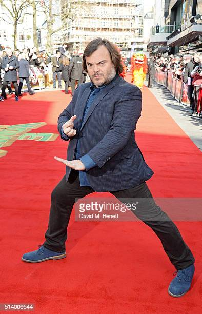 Jack Black attends the European Premiere of 'Kung Fu Panda 3' at Odeon Leicester Square on March 6 2016 in London England