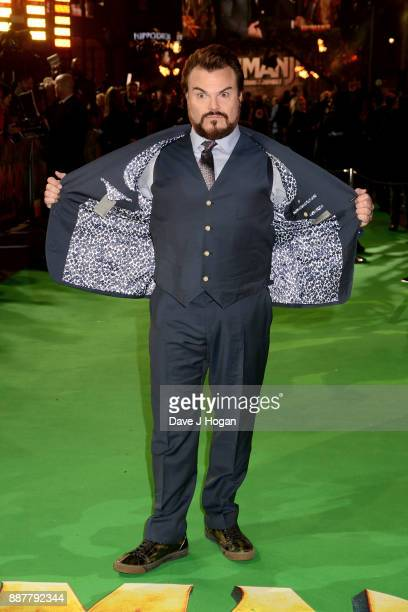 Jack Black attends the 'Jumanji Welcome To The Jungle' UK premiere held at Vue West End on December 7 2017 in London England