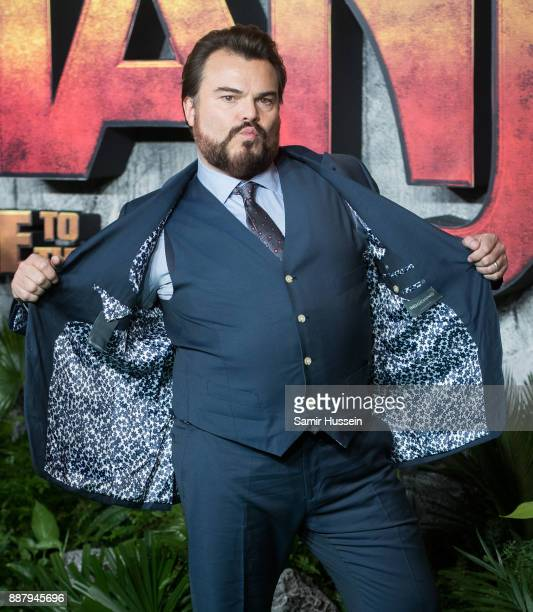 Jack Black attends the 'Jumanji Welcome To The Jungle UK premiere held at Vue West End on December 7 2017 in London England