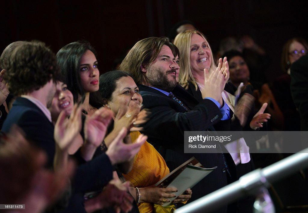 <a gi-track='captionPersonalityLinkClicked' href=/galleries/search?phrase=Jack+Black&family=editorial&specificpeople=171453 ng-click='$event.stopPropagation()'>Jack Black</a> attends the Special Merit Awards Ceremony during the 55th Annual GRAMMY Awards at the Wilshire Ebell Theater on February 9, 2013 in Los Angeles, California.