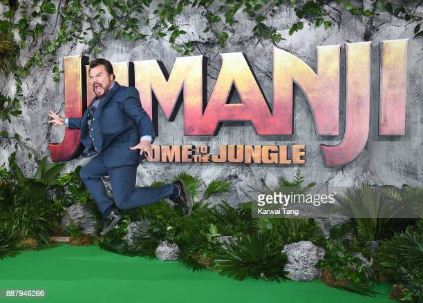 Jack Black attends the UK premiere of 'Jumanji Welcome To The Jungle' at Vue West End on December 7 2017 in London England