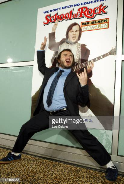 Jack Black during 'School of Rock ' Premiere Red Carpet at Cinerama Dome in Hollywood California United States