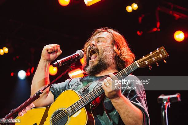 Jack Black of Tenacious D performs on the Orange stage during Roskilde Festival 2016 on June 30 2016 in Roskilde Denmark