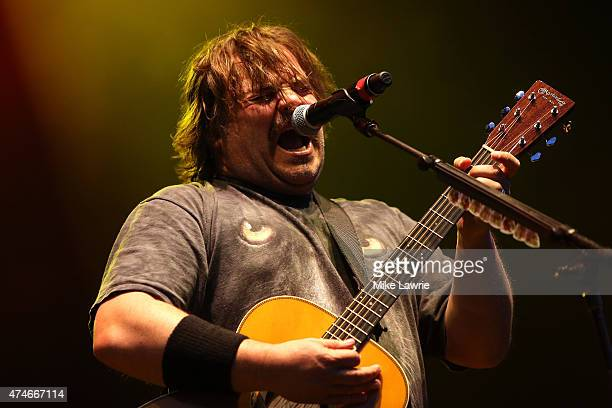 Jack Black of Tenacious D performs onstage during Boston Calling Music Festival Day 3 at Boston City Hall Plaza on May 24 2015 in Boston Massachusetts