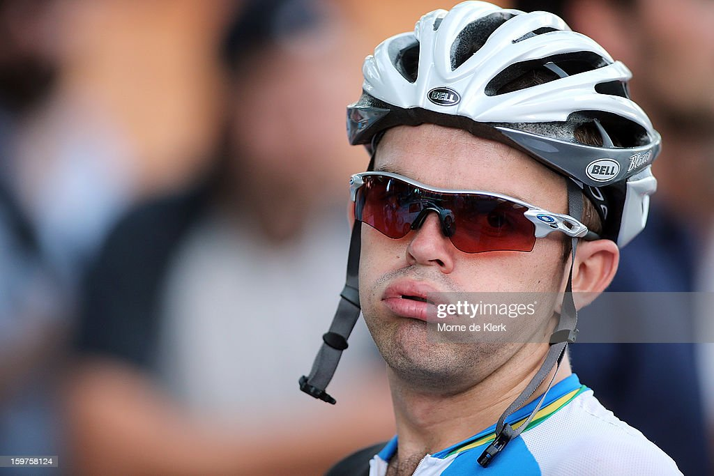 <a gi-track='captionPersonalityLinkClicked' href=/galleries/search?phrase=Jack+Bobridge&family=editorial&specificpeople=4167089 ng-click='$event.stopPropagation()'>Jack Bobridge</a> of Australia and the Blanco Pro Cycling Team rides during the People's Choice Classic race of the Tour Down Under on January 20, 2013 in Adelaide, Australia.