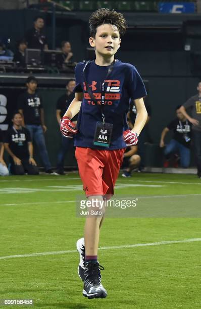 Jack Brady during the Under Armour 2017 Tom Brady Asia Tour at Ariake Colosseum on June 21 2017 in Tokyo Japan