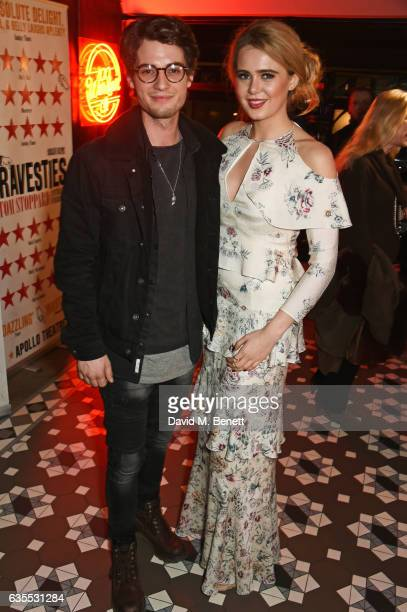 Jack Brett Anderson and Grace Link attend the press night after party for 'Travesties' at 100 Wardour St on February 15 2017 in London England