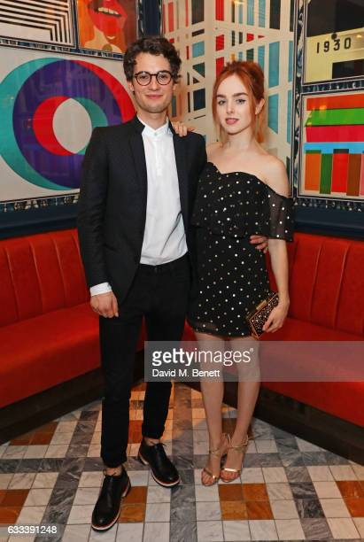 Jack Brett Anderson and Louisa ConnollyBurnham attend the InStyle EE Rising Star Party ahead of the EE BAFTA Awards at The Ivy Soho Brasserie on...