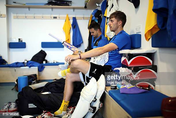 Jack Brooks and Ben Coad of Yorkshire during the Yorkshire CCC Media Day at Headingley on April 8 2016 in Leeds England